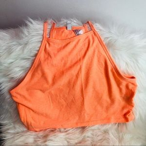 Cute neon orange crop top
